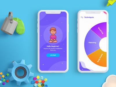 Meditation App iphonex android ios peace inner meditate