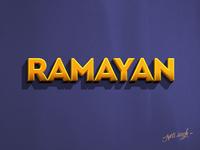 Ramayan Typography