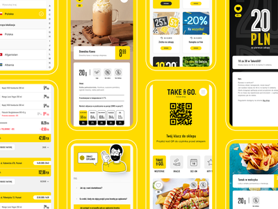 Take&GO cashier-less convenience store app qr code qr coupons coupon foodie shopping store grocery convenience store shop mobile food ux ux design ui  ux ui