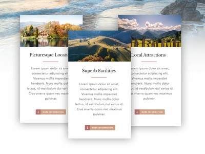 Holiday Cottage Feature Cards