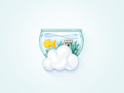 Cloud Packages Illustrations: Fish Tank