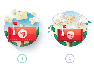 Choosing a style. Can you help us? choose letters letter mail mailbox illustration icons icon