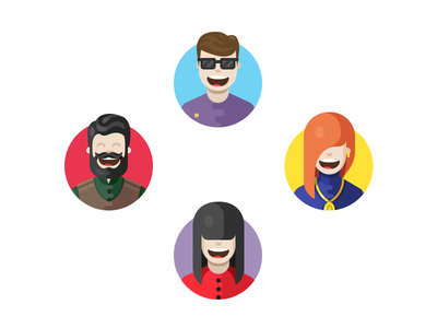 Productivity Characters woman man character illustrations illustration icons icon
