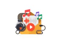 Audio in Email Illustration