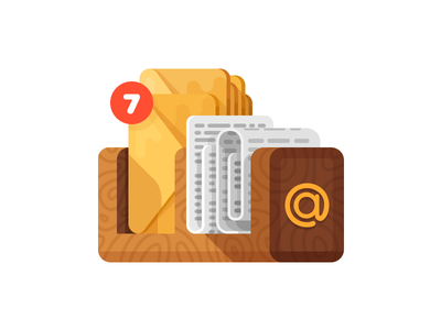 Unread Mail Illustration/Icon notifications unread shelf email mail illustrations icons icon