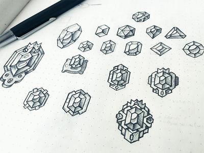 Badge Sketches jewel gemstone gems achievements sketch awards badge