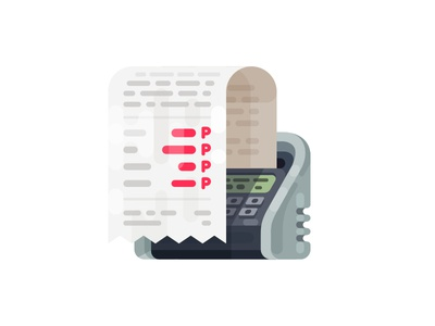 Receipts Icon/Illustration check bill receipt illustration icon