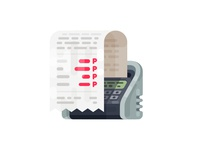 Receipts Icon/Illustration