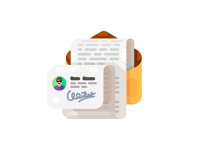 Signature Illustration/Icon email signature letter illustration icon