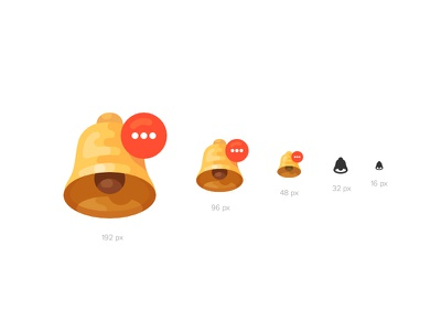 Notification Icon for Different Contexts ring bell notification illustration icon