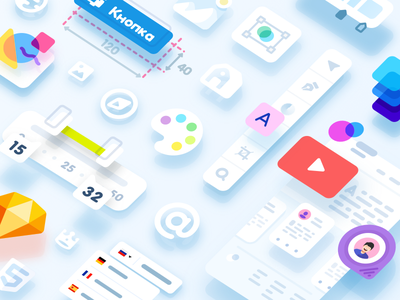 Mail.Ru Group Paradigm Design System style guide guidelines library pattern slider component control input button ui kit design system illustration