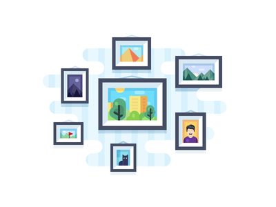 Photo Sync Illustration frame sync photo illustration icon