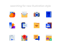 Medium-Sized Icons: Restyling Concept chat map security pin folder themes contact addressbook photo message letter cloud illustration icon