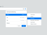 Web App UI – Insert Personalised Tag