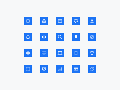 Icons for Email Marketing App icon set ui user interface ux user experience web app email marketing icon icons