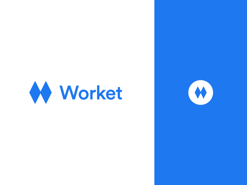 Worket Logo web app app branding logo
