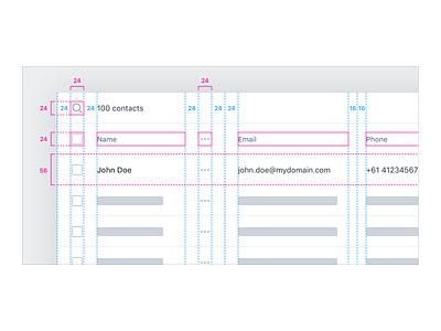 Data Table UX/UI – Density crm data table web app app user interface user experience ux ui