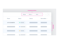 Data Table UX/UI – Contextual Actions