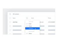 Data Table UX/UI – Display Options