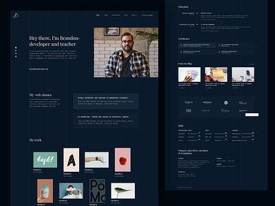 MyCareer / Brandon Demo elementor personal website biography vcard portfolio resume cv modern minimal design ux ui landing page landing web wordpress theme