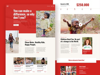 RightCause - Charity and Donation Theme colorful bold red creative modern wordpress theme ux ui landing web donations fundraising charity