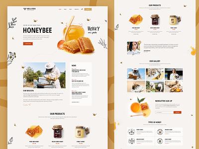 Mellifera - Beekeping and Honey Shop Theme 🐝 website mockup layout web design creative landing page landing design ux ui wordpress theme beekeeper beekeeping honey shop honeybee honey