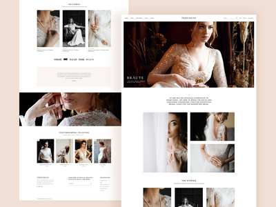 Trousseau - Bridal Shop WordPress Theme ux ui theme wordpress bridal website minimal clean elegant modern shop layouts wedding fashion boutiques bridal shop bridal