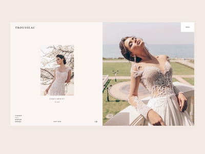 Trousseau - Bridal Shop WordPress Theme minimal wordpress theme clean design ux ui modern slider landing blog weddings store shop bridal