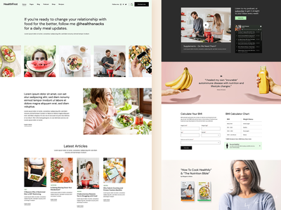 HealthFirst - Nutrition and Recipes Theme clean landing page landing design ux ui modern health theme wordpress podcasts