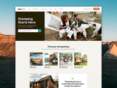 Glamping Landing clean website ux ui landing