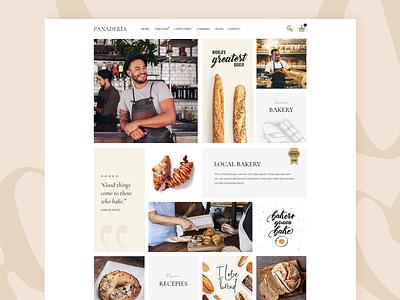 Panadería website concept pastry bakery shop minimal creative modern ux ui web landing theme wordpress design