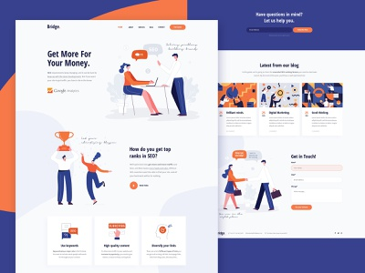 SEO Agency digital marketing optimization marketing illustration seo modern agency creative landing page clean design ux ui landing wordpress theme