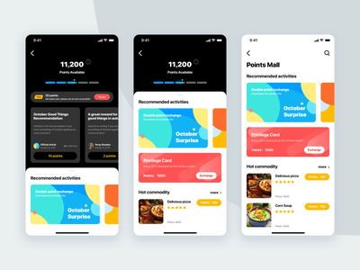 Reward Points System ux reward sketch app ui
