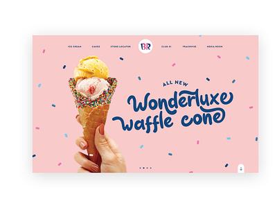 Baskin Robbons Website Concept webiste ice cream