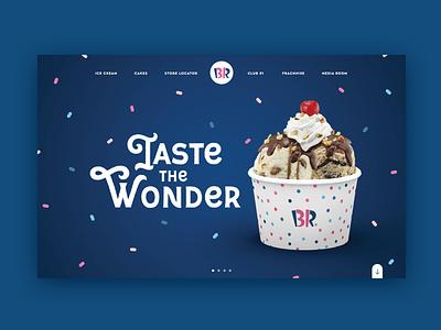 Ice cream website, baskin robbins, taste the wonder baskin robbins ice cream icecream baskinrobbins baskin