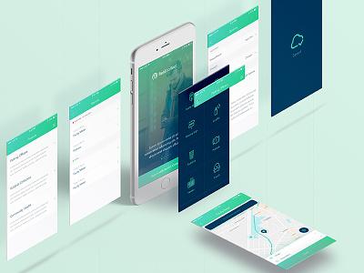 Fieldcollect app design concept minimal creative user experience user interface design ux ui location tracking application mobile design app