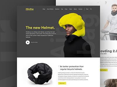 Hovding web design concept  helmet bike web design site webdesign home page design ux ui website