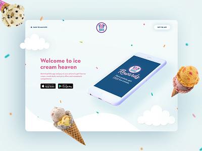 Baskin-Robbins Loyalty App Landing Page ice cream website design webdesign
