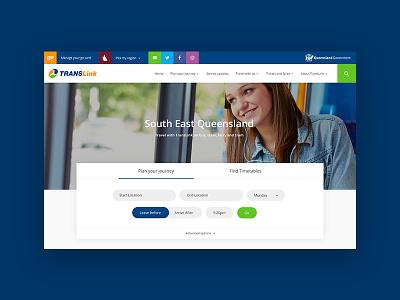 Translink re design concept website planning journey queensland train bus translink travel