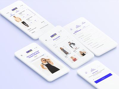 City beach UI/UX design mobile checkout product blue ecommerce app citybeach beach city
