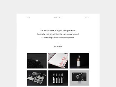 Amari portfolio website template behance portfolio