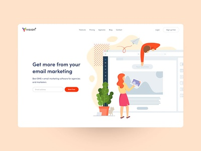 Email application website landing page website email marketing