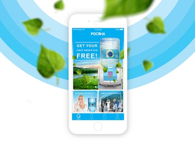 Rosiana app (Dew) ux ui blue fresh visual design water mobile app uiux