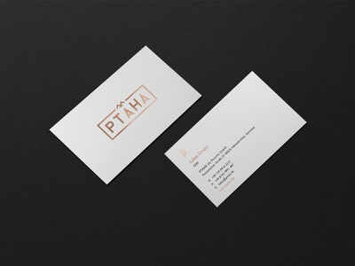 Business card for PTAHA brandidentity identity branding design brand busines card typography brand and identity black logo design idenity corporate branding bird logo bird logo furniture branding corporate identity visual design