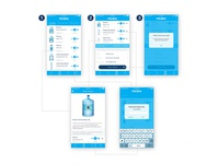 User flow. App for water delivery company.