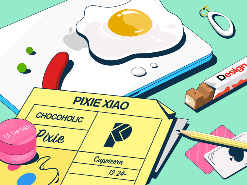 My mac made breakfast for me this morning. paper notebook sausage capricorn earring laptop hot egg pencil poker chocolate uidesign ui apple mac breakfast