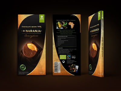 Chocolate's packaging sustainable supermarket ecologic green premium packaging premium chocolate packaging packaging
