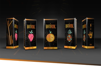 Batirok food branding branding juice redbull fruits rockroll music packaging juice packaging