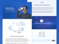 VR vs AR Landing page