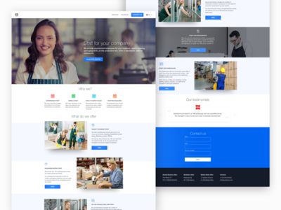 Landing page for the job site employee site web work job landing page